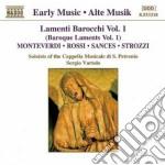 Lamenti barocchi vol.1: brani di monteve cd musicale