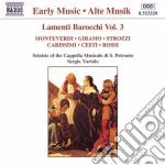 Lamenti barocchi vol.3: brani di monteve cd musicale