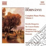 Dohnanyi - Complete Piano Works Vol.1 cd musicale di Erno DohnÁnyi