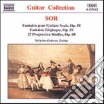 Sor Fernando - Fantasia X Chit Sola Op.58, Fantasia Elegiaca Op.59, 25 Studi Progressivi Op.60 cd musicale di Fernando Sor