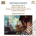Opere x pf (integrale) vol.4: sonata op. cd musicale di Felix Mendelssohn
