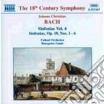 Sinfonie (integrale) vol.4: nn.1-4 op.18 cd musicale di Bach johann christia