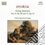 Quartetto x archi n.11 op.61, n.8 op.80 cd musicale di Antonin Dvorak