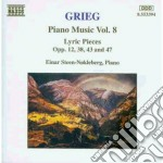Opere x pf vol. 8 (integrale): pezzi lir cd musicale di Edvard Grieg