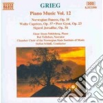 Opere x pf vol.12 (integrale): danze nor cd musicale di Edvard Grieg