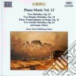Opere x pf vol.13 (integrale): 3 pezzi e cd musicale di Edvard Grieg