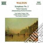 Sinfonia n.2, concerto x vla, johannesbu cd musicale di William Walton