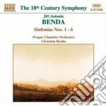 Sinfonia n.1 > n.6 cd musicale di Benda jiri antonin