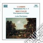 Quintetto x fiati n.1 > n.3 cd musicale di Cambini giuseppe mar