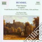 Sonate x fl e pf (integrale): sonata op. cd musicale di Hummel johann nepomu