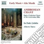 Canto Ambrosiano cd musicale di Alberto Turco