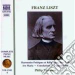 Opere x pf (integrale) vol. 4: harmonies cd musicale di Franz Liszt
