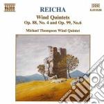 Reicha Antonin - Quintetto X Fiati N.4 Op.88, N.6 Op.99 cd musicale di Antonin Reicha