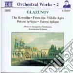 Il cremlino op.30, suite medioevale op.7 cd musicale di Glazunov alexander k