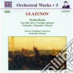 Glazunov Alexander Kostantinovich - Stenka Razin Op.13, Una Fete Slave Op.26, Cortege Solennel Op.50, Fantasia Op.50 cd musicale di Glazunov alexander k
