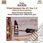 Quintetto x fiati n.1, n.2, n.3 op.67, s cd musicale di Franz Danzi
