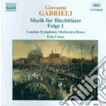 Music for brass vol.1 cd musicale di GABRIELI