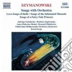 Lieder con orchestra cd musicale di Karol Szymanowski