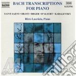 Transcriptions for piano cd musicale di BACH