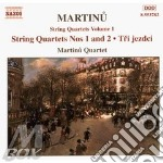 String quartets volume 1 cd musicale di MARTINU'