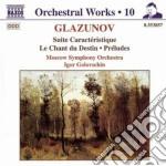 Opere x orchestra vol.10: suite caracter cd musicale di Glazunov alexander k