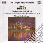 Opere x organo (integrale) vol.10: scher cd musicale di Marcel Dupre'
