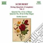Quartetti x archi (integrale) vol.2: qua cd musicale di Franz Schubert