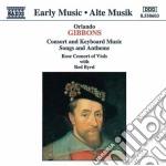 Gibbons Orlando - Musica X Consort Di Viole, Voce E Tastiere cd musicale di GIBBONS