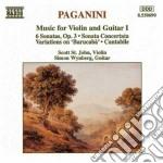 Composizioni x vl e chit vol.1 : sonata cd musicale di Niccolo' Paganini