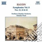 Haydn Franz Joseph - Sinfonia N.23, N.24, N.61 cd musicale di Haydn franz joseph