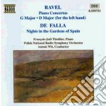 Concerto x pf, concerto x la mano sinist cd musicale di Maurice Ravel