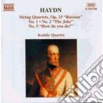 Quartetto n.1, n.2, n.5 op.33 cd musicale di Haydn franz joseph