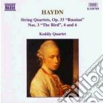 Quartetto n.3, n.4, n.6 op.33 cd musicale di Haydn franz joseph