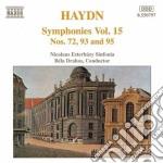 Symphonies nos.72, 93 and 95 cd musicale di Bela Drahos