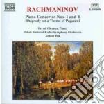 Rachmaninov Sergei - Concerto X Pf N.1 Op.1, N.4 Op.40, Rapsodia Su Un Tema Di Paganini cd musicale di Sergei Rachmaninov