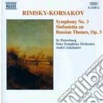 Rimsky-korsakov Nikolay - Sinfonia N.3 Op.32, Sinfonietta Su Temirussi Op.31 cd musicale di Rimsky korsakov niko