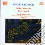 Concerto x vlc n.1 op.107, n.2 op.126 cd musicale di Dmitri Sciostakovic