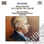 Concerto x pf n.2 op.85, n.3 op.89 cd musicale di Hummel johann nepomu