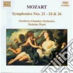 Sinfonia n.21 k 134, n.22 k 162, n.23 k cd musicale di Wolfgang Amadeus Mozart
