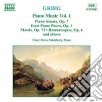 Opere x pf vol. 1 (integrale): sonata op cd musicale di Edvard Grieg