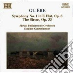Sinfonia n.1 op.8, le sirene op.33 cd musicale di Gliere