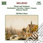 Tema e variazioni in re min, sarabanda e cd musicale di Johannes Brahms