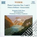 Concerto x pf n.1 op.11, n.2 op.32, pola cd musicale di Weber carl maria von