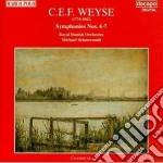 Sinfonia n.6 df 122, n.7 df 123 cd musicale di WEYSE CHRISTOPH E.F.