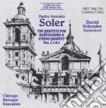 Quintetti per clavicembalo nn.4-6 cd musicale di Antonio Soler