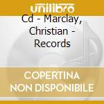 CD - MARCLAY, CHRISTIAN - RECORDS cd musicale di Christian Marclay