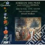 Missa fortuna desperata cd musicale di Des pres josquin
