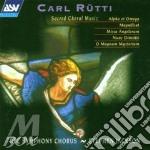 Sacred choral music cd musicale di Carl R�tti