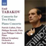 Concerto per 2 flauti, concerto per pian cd musicale di Emil Tabakov