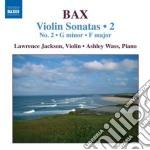 Sonate per violino n.2; sonata in sol mi cd musicale di Arnold Bax